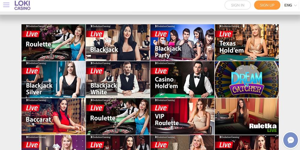 loki casino live