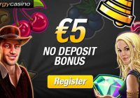 Energy Casino €5 No deposit Bonus