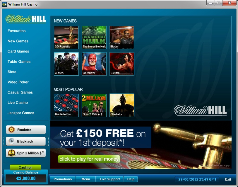 William Hill Casino_Lobby