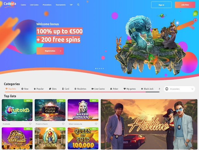 Cadoola casino review