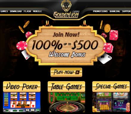 Golden Lions Casino Review
